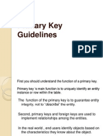 primary key guidelines