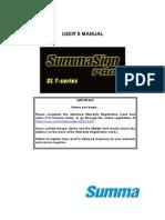 Summa Sign Pro SL-T Manual