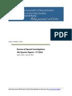 Massachusetts auditor's 2014 report on welfare fraud