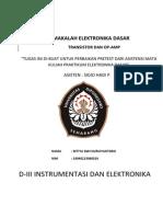 172768508 Makalah Transistor Dan Op Amp