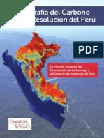 La geografía del carbono  en alta resolución  del Perú
