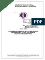 PREPA Reglamento Interconexión Distribución - Final Con Firma
