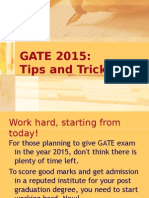 Gate 2015 Tips and Tricks