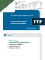 Aufgabenverteilung Durch Organisationsstrukturen