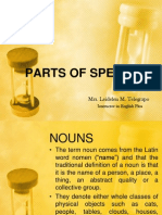 New Lecture on Parts of Speech