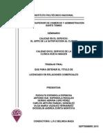 CALIDAD EN EL SERVICIO DE LA CLINICA NUEVA IMAGEN.pdf