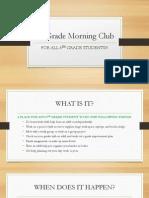 6th grade morning club