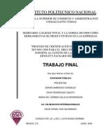 PROCESO DE CERTIFICACIÓN EN LA NORMA ISO 9001-2000 PARA EL AREA DE SERVICIO Y SOPORTE AL CLIENTE DE LA EMPRESA HEWLETT-PACKARD MEXICO.pdf