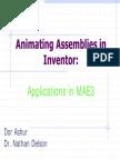 Autodesk Invntor Animations