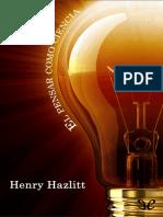 El pensar como ciencia de Henry Hazlitt r1.1.epub