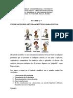 LECTURA V EXPLICACIÓN DEL MÉTODO CIENTÍFICO PARA TONTOS.doc
