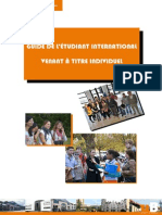 PRI Guide de l Etudiant International Venant a Titre Individuel