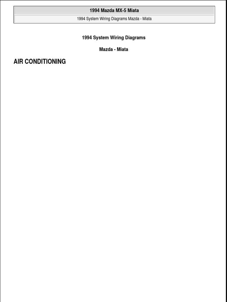 1994 Mazda Miata Fuse Diagram Wiring Libraries Diagram1994 14