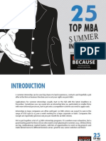 Top 25 Summer Internships