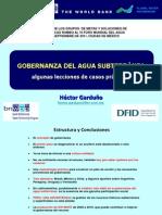 2. Gobernanza del Agua Subterránea. Algunas Lecciones y Casos Prácticos, Héctor Garduño.ppt