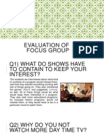 evaluation of focus group