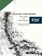 Introduction to Henri Michaux's Thousand Times Broken