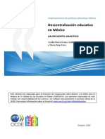 Descentralización Educativa en México.pdf