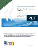 Descentralización Educativa en México.pdf