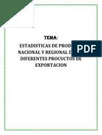 ESTADISTICAS DE PRODUCCION NACIONAL Y REGIONAL DE LOS DIFERENTES PROCUCTOS DE EXPORTACION.docx