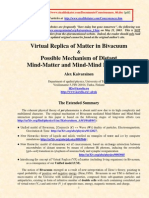 Virtual Replica of Matter in Bivacuum