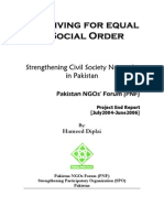Striving for Equal Social Order (Annual Report PNF)