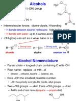 Alcohols, organic chemistry