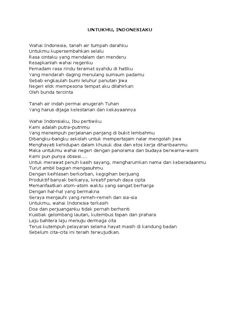 Contoh Puisi Cinta Tanah Air Singkat Archidev