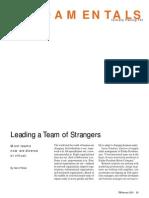 Leading Strangers