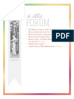 The Hillsdale Forum March 2014