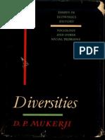 Diversities - D.P. Mukerji_Part1
