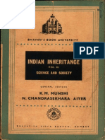 Indian Inheritance Science and Society Vol.iii - K.M. Munshi