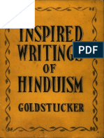 Inspired Writings of Hinduism - Theodore Goldstucker