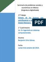 Síntesis de los factores que contribuyeron a la formación del Estado Mexicano