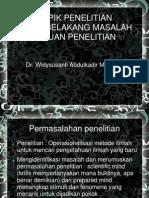 (2) Menyusun Rumusan Masalah Dan Tujuan Penelitian