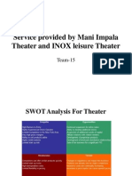 Service Provided by Mani Impala Theater and INOX