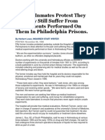 former inmates protest they say they still suffer from experiments performed on them in philadelphia prisons