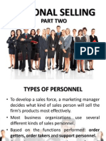 Personal Selling Part 2