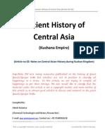Ancient History of Central Asia -Kushana Empire