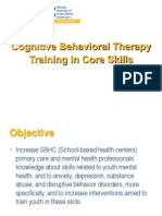 Cognitve Behavioral Therapy Training in Core Skills Presentation NASBHC