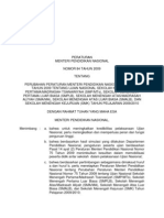 Salinan Permendiknas Nomor 84 Tahun 2009 Tentang Ujian Nasional an
