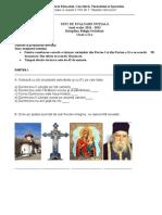 Test de Evaluare Inițială, Cls. a II-A, Religie