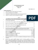 Class 12 Cbse Accountancy Sample Paper 2012 Model 2