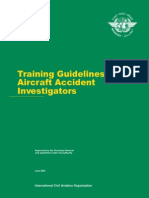 ICAO_Cir298_Training Guidelines for Aircraft Accident Investigators