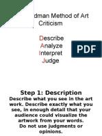 Criticism Steps