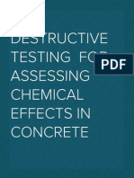 Non destructive evaluation for assessment of chemical effects in concrete