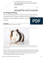 How Tech Could Spell the End of Animals in Drugs Testing _ Science _ the Observer