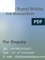 Statistic Report Writing for Researchers