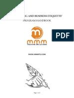 Business Etiquette Handbook