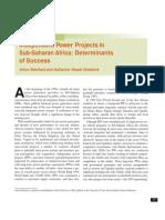IPP in Sub Saharan Africa